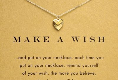 Hot-Sale-Sparkling-Heart-make-a-wish-plated-Pendant-necklace-Clavicle-Chains-Necklaces-Women-FOMALHAUT-Jewelry
